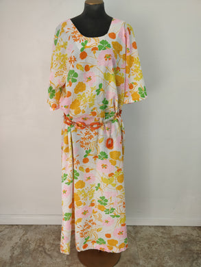 Vintage 1960's Two Potato Mod Maxi Dress