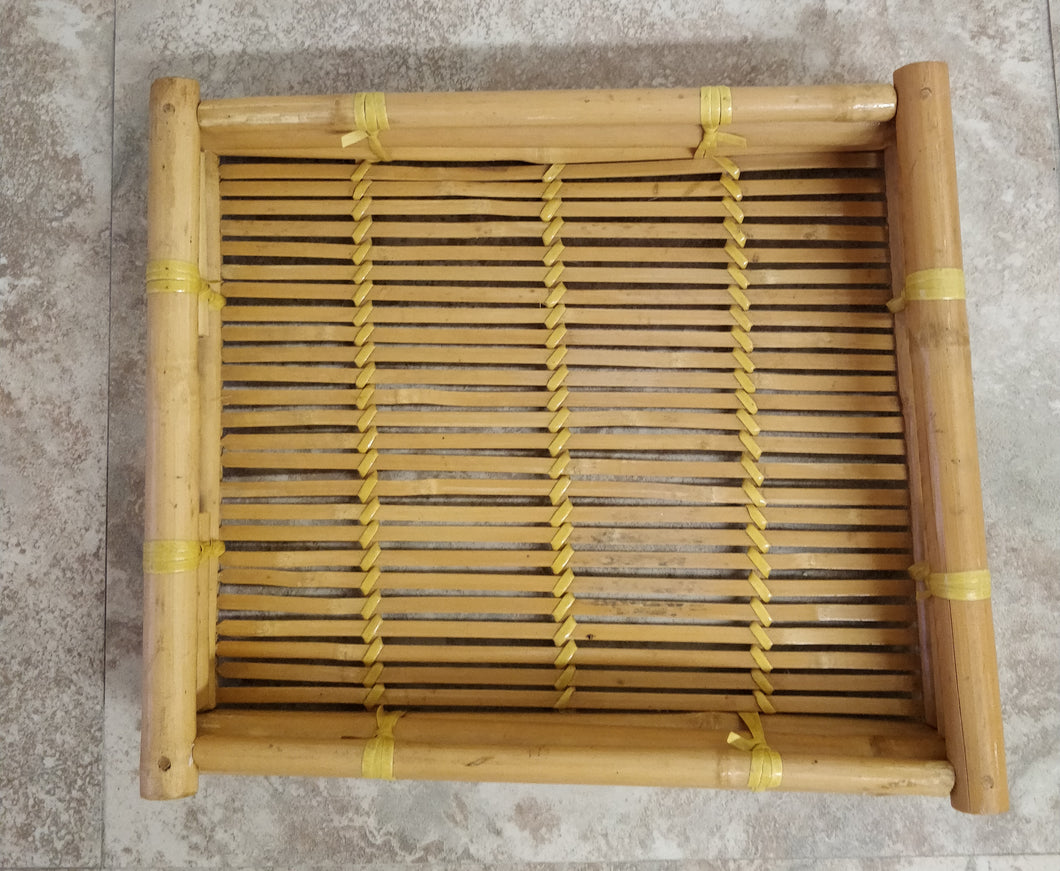 Vintage Bamboo Serving Tray Gordelly Unlimited