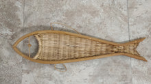 Vintage Fish Shaped Wicker