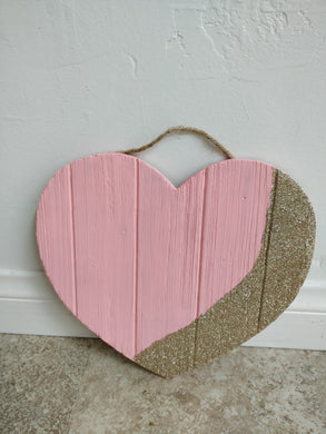Hand-Painted Wooden Heart, 2 Colors