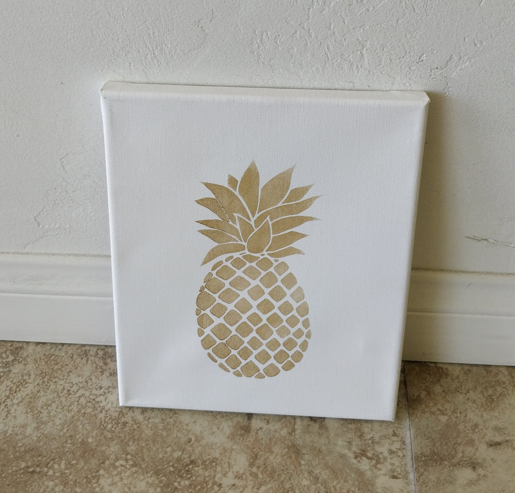 Hand Painted Pineapple Wall Art