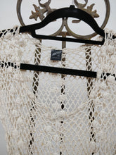Vintage Macelli Cream Crochet Dress,