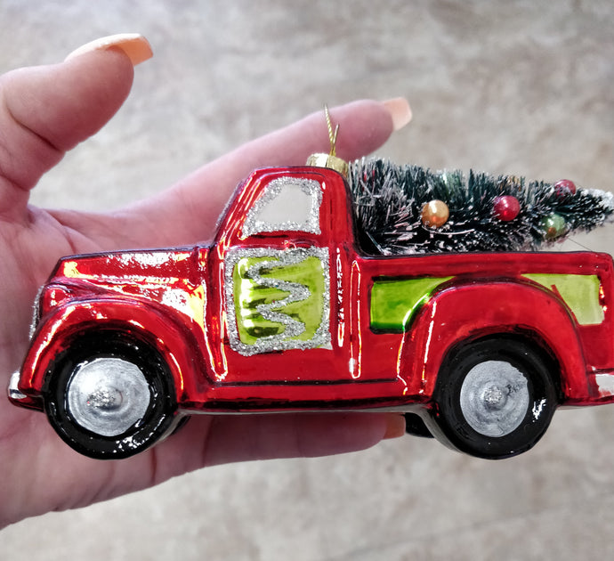 Little Red Car Ornament