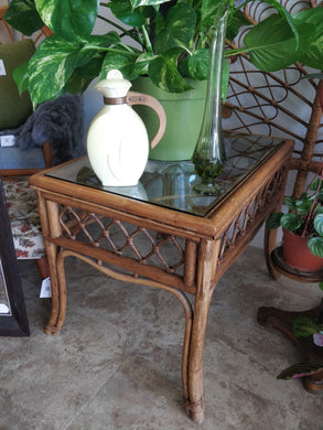 Vintage Cane Coffee Table