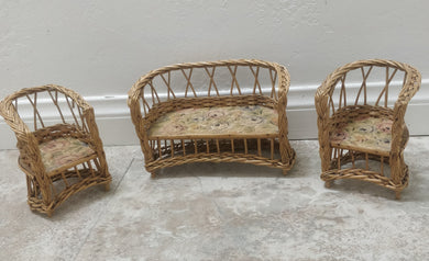 Vintage Miniature Wicker Furniture