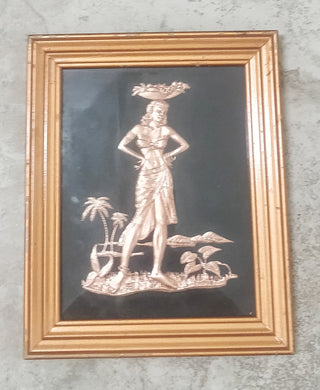 Vintage Hula Girl Wall Art