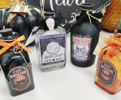 Halloween Glass Bottles