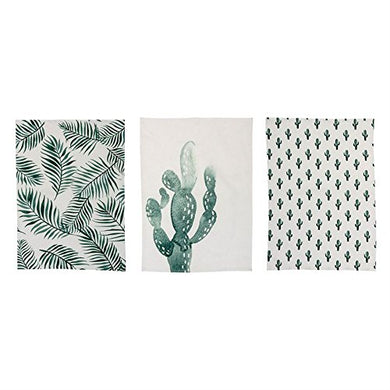 Bloomingville Cotton Jade Kitchen Towel, 3 Styles