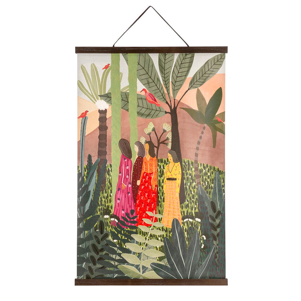 Jungle Brights Linen Wall Hanging