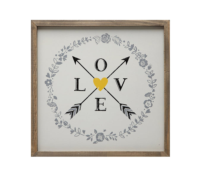 Creative Co-Op Love & Arrow Wall Decor