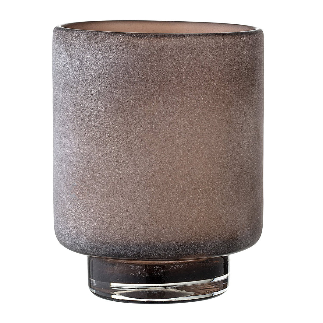 Bloomingville Glass Votive Candle Holder, Marbled Brown