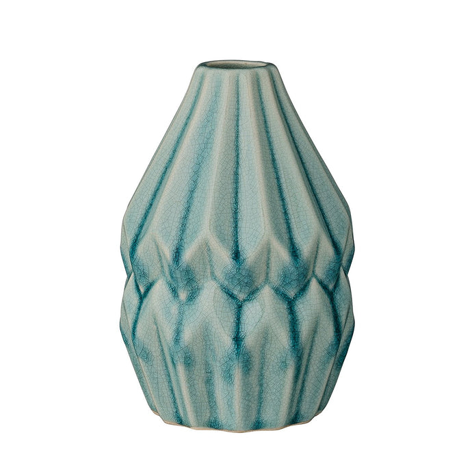 Bloomingville Fluted Flower Vase, Sky Blue