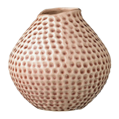 Bloomingville Spotted Stoneware Vase, Nude