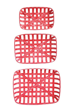 Creative Co-Op Reproduction Red Basket