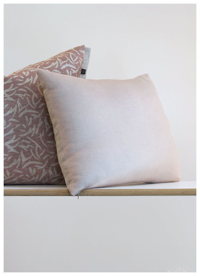 Fog and Stone Blush Cushion
