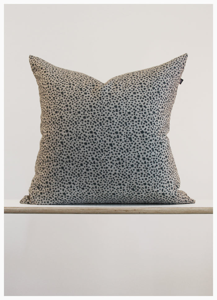 Fog and Stone 100% Linen Screen Printed Cushion