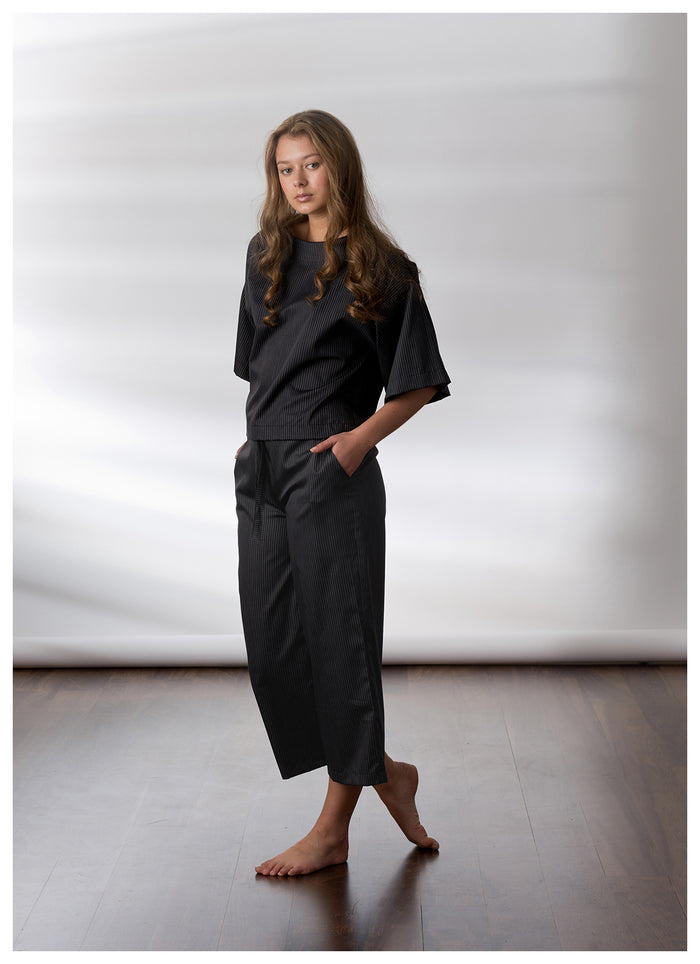Fog and Stone Kimono and culottes luxury pyjama set