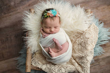 "limited-edition ""Harlow"" headband (last one) OR ""Ivory"" DreamSoft wrap OR backdrop ($26/15/37)"