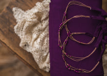 "limited-edition ""dark orchid"" boho band OR matching wrap ($25/15)"