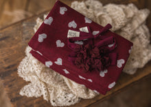 "limited-edition ""Cranberry"" triple-bow headband OR ""Amour"" wrap"