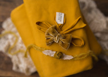 "limited-edition ""gold"" grande bow band OR ""gold"" dainty rosette tieback OR ""Mustard"" DreamSoft wrap/drop ($23/20/15/37)"