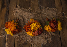 "floral bouquet - ""gold, mustard, and rust"" bouquet"