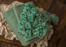 "limited-edition ""Jaded Sage"" velvet bow OR wrap OR backdrop ($23/22/15/38)"