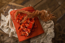 "limited-edition choice of ""terracotta"" petite tieback OR grande velvet bow OR boho band OR ""Terracotta"" DreamSoft wrap ($22/23/25/15)"