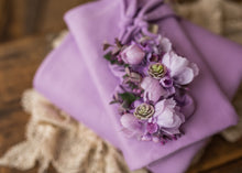 "limited-edition ""Frida"" headband OR ""lavender"" bow OR wrap OR backdrop ($25/22/15/38)"
