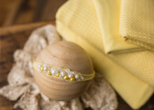 "limited-edition ""sunlight"" pearled and/or stoned headband OR wrap OR backdrop ($27/15/38)"