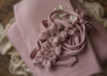 "limited-edition ""Victorianne"" rustic bow headband or ""Victorianne"" simple bow headband or wrap or backdrop ($23/20/15/39)"