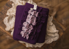 "limited-edition ""Aubergine Ombre"" headband OR ""Aubergine"" DreamSoft wrap OR backdrop ($24/15/37)"
