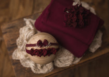 "limited-edition ""maroon"" sweet-and-simple bow band OR ""deep cranberry"" bedhead bows band OR Cranberry DreamSoft wrap OR backdrop ($22/24/15/37)"