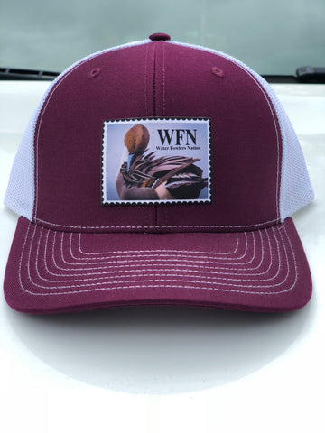 Maroon Pintail Patch Hat