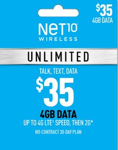 Net10 $35 Unlimited Plan