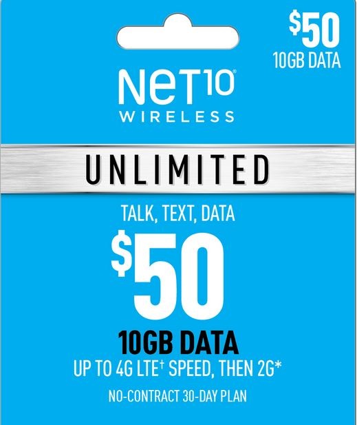 Net10 $50 Unlimited Plan