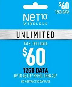Net10 $60 Unlimited Plan