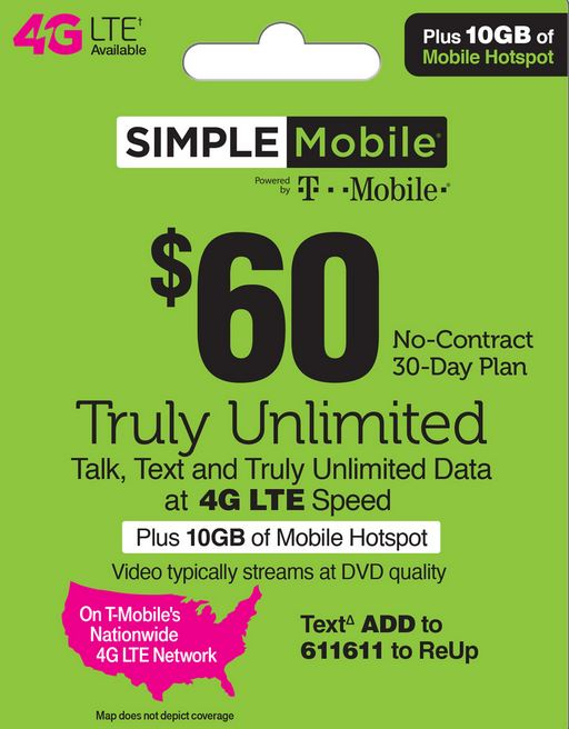 Simple Mobile $60 Unlimited Plan
