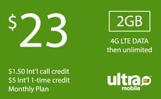 Ultra Mobile $23 Unlimited Plan