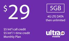 Ultra Mobile $29 Unlimited Plan