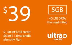Ultra Mobile $39 Unlimited Plan
