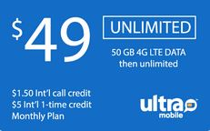 Ultra Mobile $49 Unlimited Plan