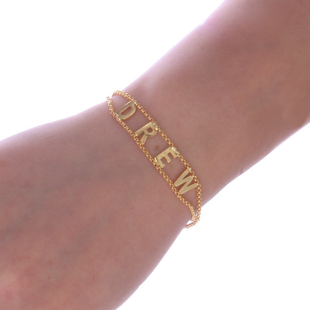 Customizable Capital Letters Bracelet