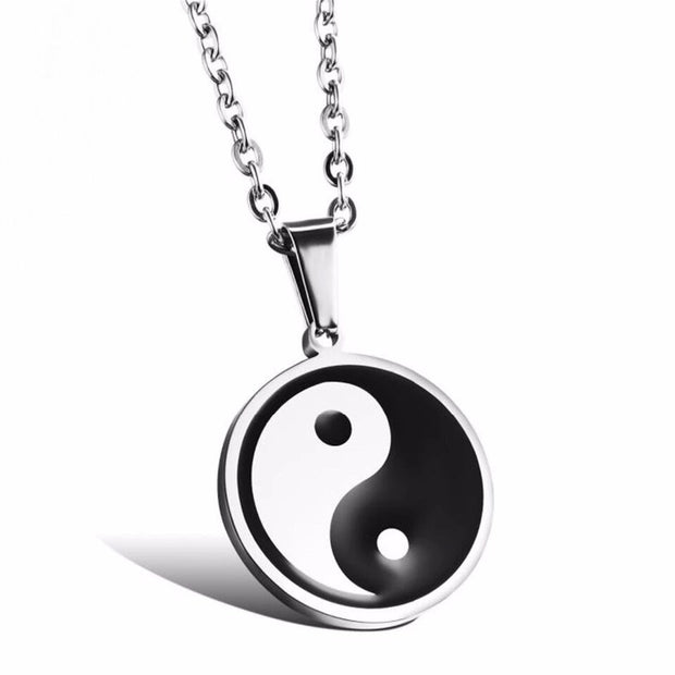 Men's Stainless Steel Yin an Yang Necklace