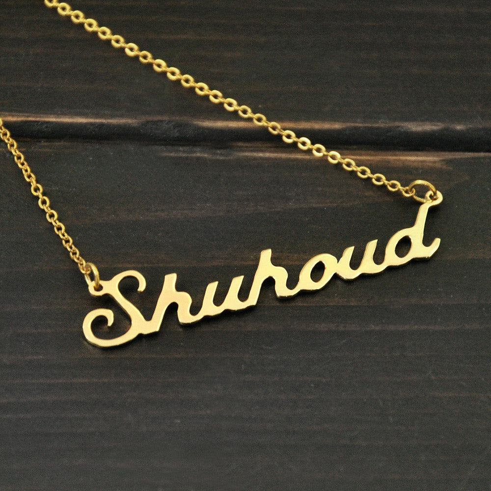 Gold Personalized Named Necklace