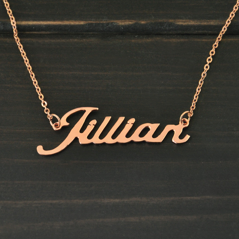 Rose Gold Personalized Named Necklace
