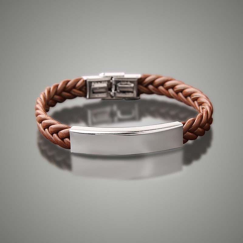 Brown Custom ID Engrave Bracelet