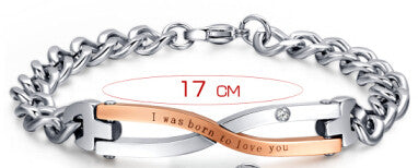 """I Was Born to Love You"" Bracelet for Couples"