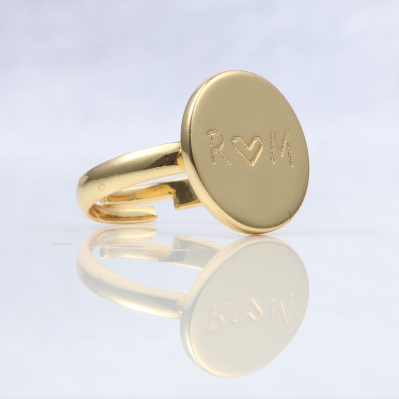 Custom Adjustable Heart Ring (Multiple Colors)