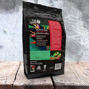 Pure Canopy - Breakfast Blend Coffee - 5lb Ground Beans